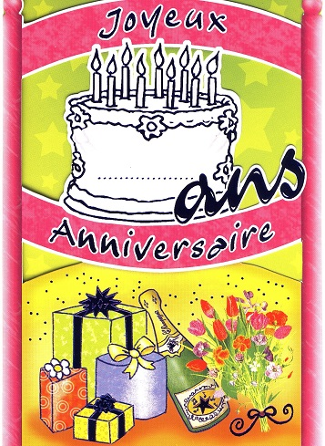 anniversaire model carte